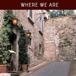 Where we are  - Medioevo Restaurant Assisi