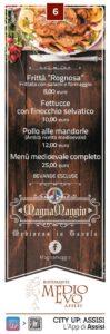 Ristorante Medioevo menu calendimaggio 2017